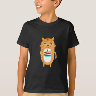 Cat With Party Attributes Girly Stylized Funky Sti T-Shirt