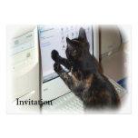 Cat with PC Custom Invite