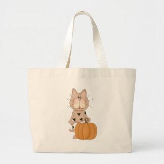 Cat with Pumpkin Tote Bag