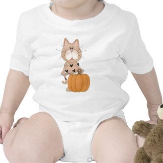 Cat with Pumpkin Tshirts