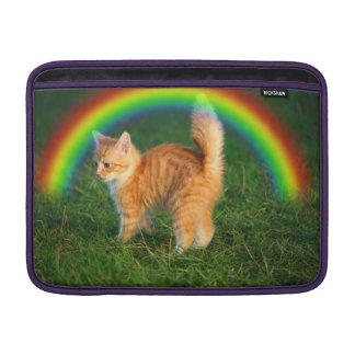 Cat with Rainbow MacBook Sleeve