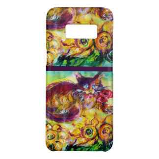 CAT WITH RED RIBBON AND SUNFLOWERS Case-Mate SAMSUNG GALAXY S8 CASE