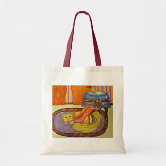 Cat with Red Shoe- original artwork by Carol Zeock Tote Bag