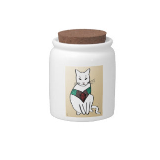 Cat with Ruby Collar Candy Dish