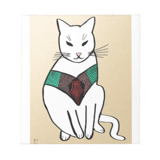 Cat with Ruby Collar Note Pad
