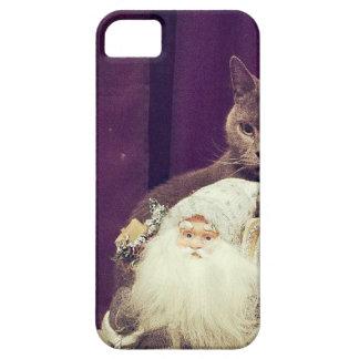 cat with santa claus iPhone SE/5/5s case