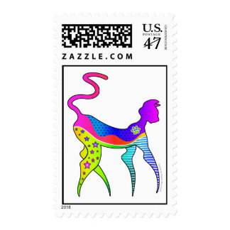 CAT with STARS POSTAGE