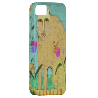 Cat with Striped Tail iPhone 5 Cases