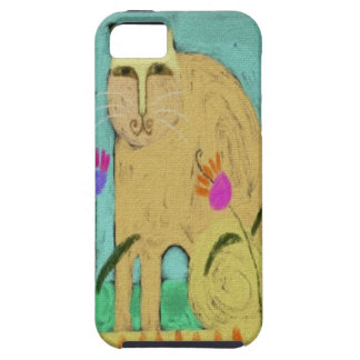 Cat with Striped Tail iPhone 5 Cover