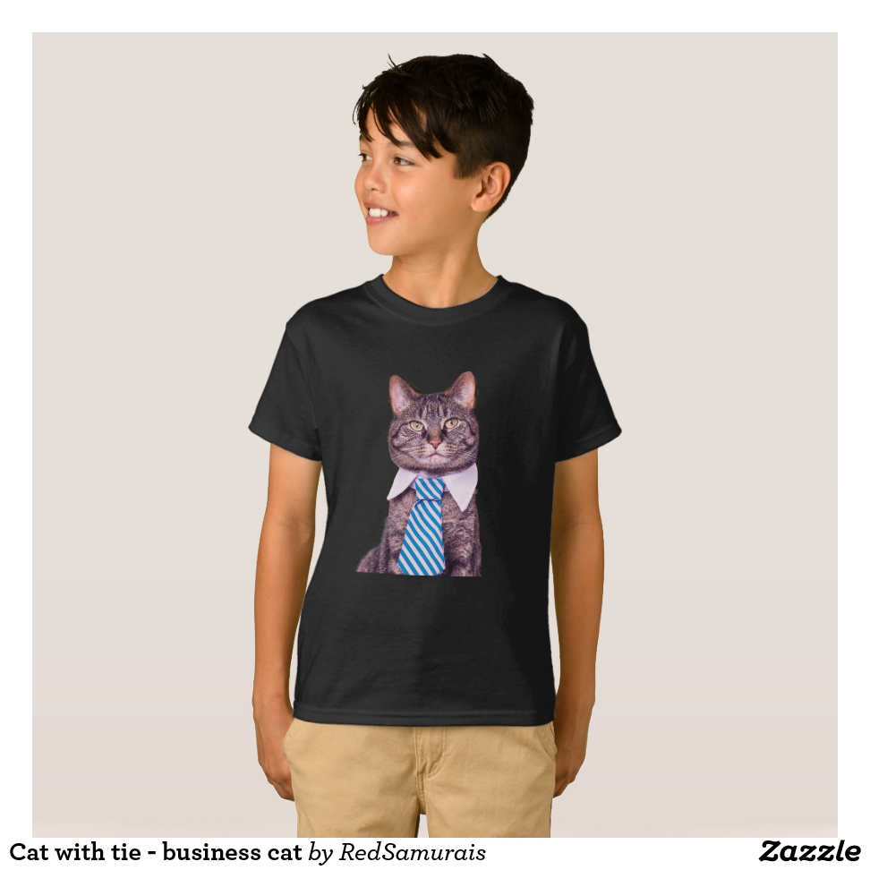 Cat With Tie Business Cat T Shirt Comfortable Stylish And