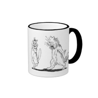 Cat with Toothache Visits Dentist Ringer Mug