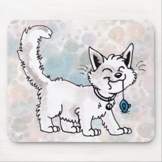 Cat with Toy Mouse Mousepad