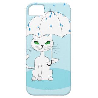 Cat with Umbrella iPhone 5 Cases