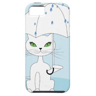 Cat with Umbrella iPhone 5 Covers