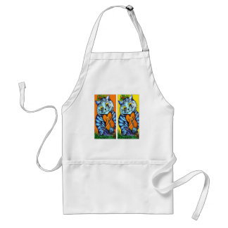 Cat With Violin by Louis Wain Adult Apron