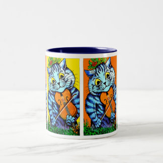 Cat With Violin by Louis Wain Cup Coffee Mugs