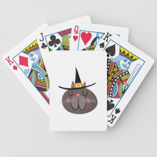 CAT WITH WITCH HAT BICYCLE PLAYING CARDS