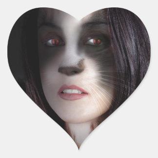 Cat Woman Art Work Sticker