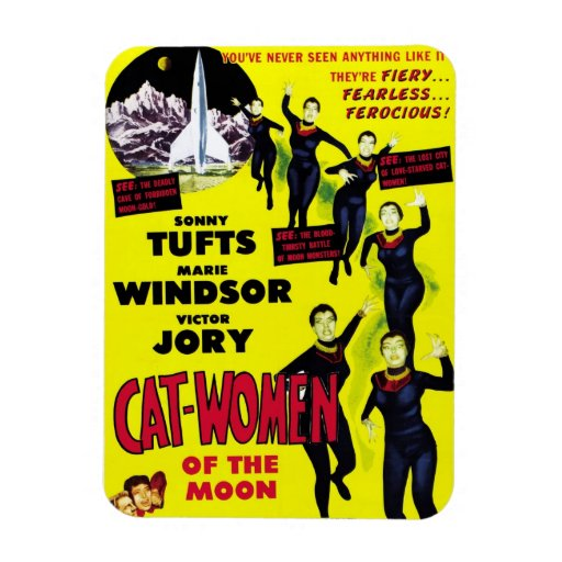 """Cat Women of the Moon"" Magnet"