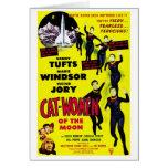 """Cat Women on the Moon"" Card"