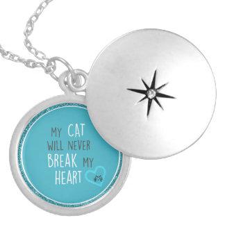 Cat Won't Break Heart Sterling Silver-Plate Locket