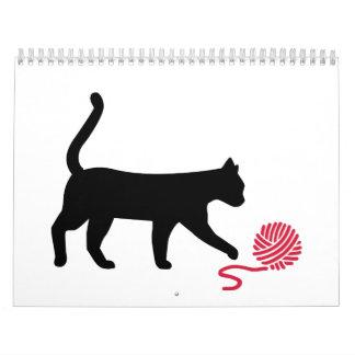 Cat wool wall calendar