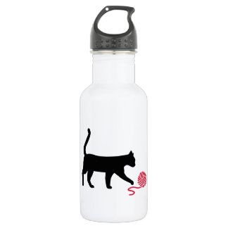 Cat wool water bottle