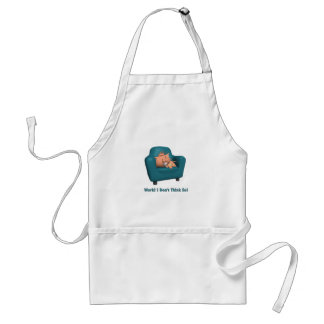 Cat: Work? I Don't Think So Adult Apron
