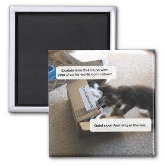 Cat World Domination Magnet