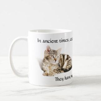 Cat worship coffee mug