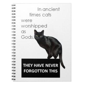 Cat Worship Spiral Notebook
