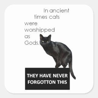 Cat Worship Square Sticker
