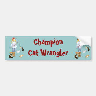 Cat Wrangler Bumper Sticker