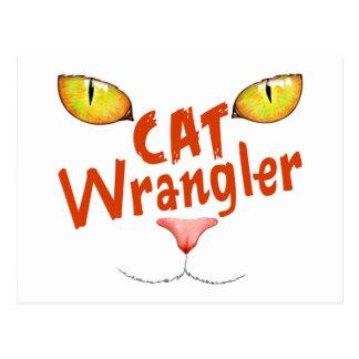 Cat Wrangler Postcard