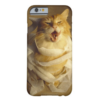 Cat wrapped in medical gauze barely there iPhone 6 case
