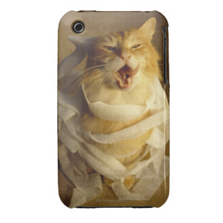 Cat wrapped in medical gauze iPhone 3 Case-Mate cases