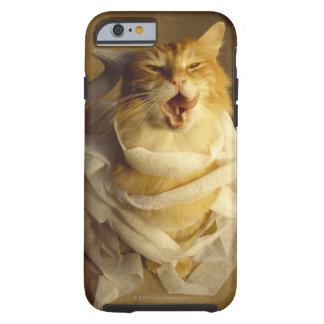 Cat wrapped in medical gauze tough iPhone 6 case