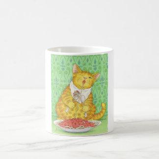 CAT y espaguetis Taza Clásica