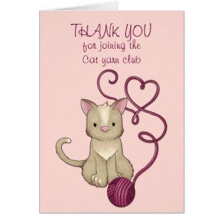 cat yarn club card