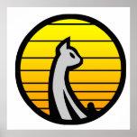 Cat Yellow Print