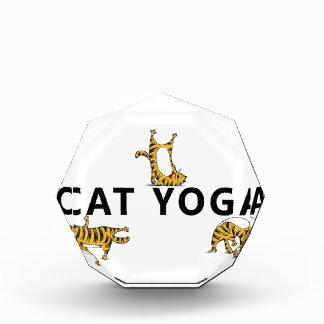 cat yoga acrylic award