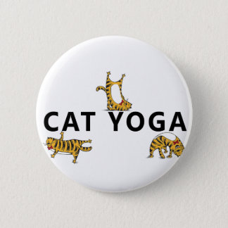 cat yoga pinback button