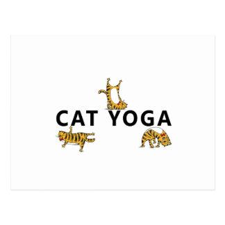 cat yoga postcard