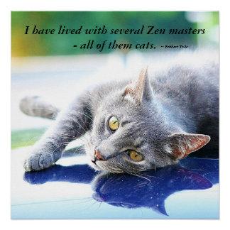Cat Zen Master Poster