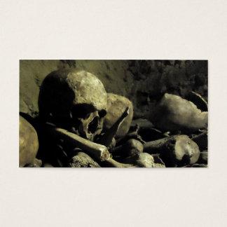 catacomb bones business card
