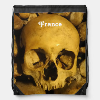 Catacombs in France Drawstring Bag