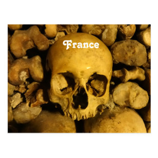 Catacombs in France Postcard