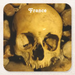 Catacombs in France Square Paper Coaster