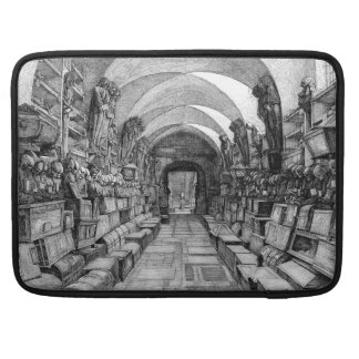 Catacombs of the dead Rickshaw Flap Sleeve MacBook Pro Sleeve