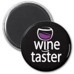 Catador del vino imán de nevera
